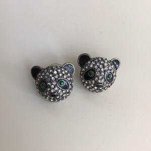 New Betsey Johnson Crystal Panda Earrings